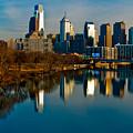 Cityscape Of Philadelphia Pa by Louis Dallara