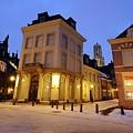 Cityscape Of Utrecht In The Evening At Pausdam 5 by Merijn Van der Vliet