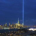 Cityscape Tribute In Lights Nyc by Regina Geoghan