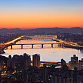 Cityscape With River Before Sunrise by SJ. Kim