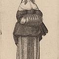 Ciuis Aut Mercatoris Antuerpiensis Vxor by Wenceslaus Hollar