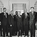 Civil Rights Leaders And President Kennedy 1963 by Library Of Congress