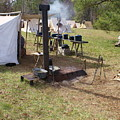 Civil War Camp Stove And Mess by Rodger Whitney