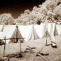 Civil War Encampment - Infrared by Paul W Faust -  Impressions of Light