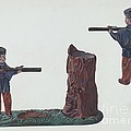 Civil War Soldier & Tree Trunk Bank by William O. Fletcher