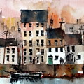 Cladagh Harbour Galway Citie by Val Byrne