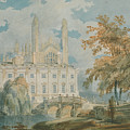 Clare Hall And Kings College Chapel, Cambridge  by Joseph Mallord William Turner