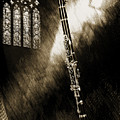 Clarinet Music Instrument And Sepia Church Window 3523.01 by M K Miller