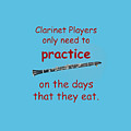 Clarinets Practice When They Eat by M K  Miller