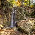 Clark Creek Nature Area Waterfall No. 1 by Andy Crawford