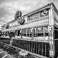 Classic American Diner Black And White by Edward Fielding