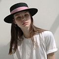 Classic Boater Hat by Anna Bobbie