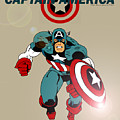 Classic Captain America by Mista Perez Cartoon Art