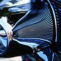 Classic Car Chrome Abstract Reflected Grill by Rick Bures