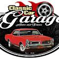 Classic Car Garage With Gto by Paul Kuras