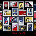 Classic Car Montage Art 1 by Jill Reger