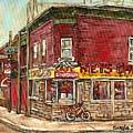 Classic Chinese Restaurant Montreal Memories Silver Dragon Canadian Paintings Carole Spandau         by Carole Spandau