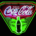 Classic Coca-cola Neon Sign by Miles Whittingham