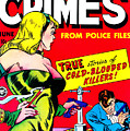 Classic Comic Book Cover - Famous Crimes From Police Files - 0112 by Wingsdomain Art and Photography