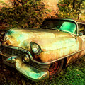 Classic Country Cadillac Painting  by Debra and Dave Vanderlaan