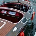 Classic Gar Wood Boat by Michelle Calkins
