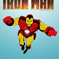 Classic Iron Man by Mista Perez Cartoon Art