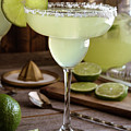 Classic Lime Margaritas On The Rocks by Teri Virbickis