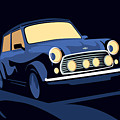 Classic Mini Cooper in Blue by Michael Tompsett