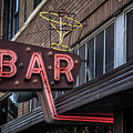 Classic Neon Sign For A Bar Livingston Montana by Edward Fielding
