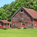 Classic Old Red Barn In Vermont by Edward Fielding