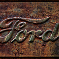 Classic Rusty Ford Pickup Truck Logo Detail by John Stephens