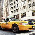 Classic Street View With Yellow Cabs In New York City by Antonio Gravante