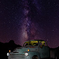 Classic Truck Under The Milky Way by James Sage