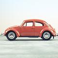 Classic Vw Bug Red by Edward Fielding