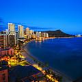 Classic Waikiki Nightime by Tomas del Amo - Printscapes