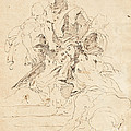 Classical Figures Gathered Around An Urn by Giovanni Battista Tiepolo