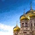Intercession Cathedral In Saratov Russia by John Williams