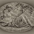 Classical Greek Woman Fresco by Bill Cannon