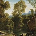 Classical Landscape With Figures By A Lake by Celestial Images