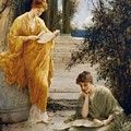 Classical Women Reading  by MotionAge Designs