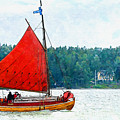 Classical Wooden Boat Tacksamheten by Kai Saarto
