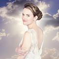 Classy Bride Enjoying Outdoor Wedding by Jorgo Photography - Wall Art Gallery