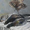 Claude Monet 1840 - 1926 Pheasant, Woodcock And Partridge by Claude Monet