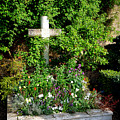 Claude Monet Grave In Giverny by Olivier Le Queinec