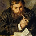 Claude Monet The Reader 1874 by Renoir PierreAuguste