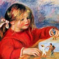 Claude Renoir At Play Sun 1905 by Renoir PierreAuguste