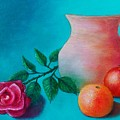 Clay Pot Still Life by Susan DeLain
