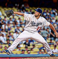 Clayton Kershaw Baseball by Marvin Blaine