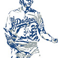 Clayton Kershaw Los Angeles Dodgers Pixel Art 10 by Joe Hamilton