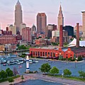 Cle Sunset View From The Shoreway by Frozen in Time Fine Art Photography
